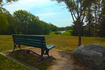 Henry Boux Park Bench and Rock