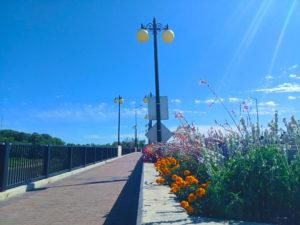 St Norbert Bridge with flowers